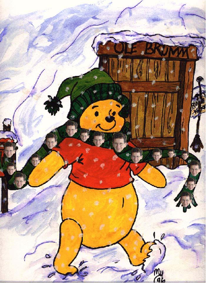 7f83de497b0a R21C - Fun - John Ward Pooh bear wearing a John Ward scarf